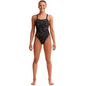 Funkita Brace Free Swimsuit Women, negro/Dorado